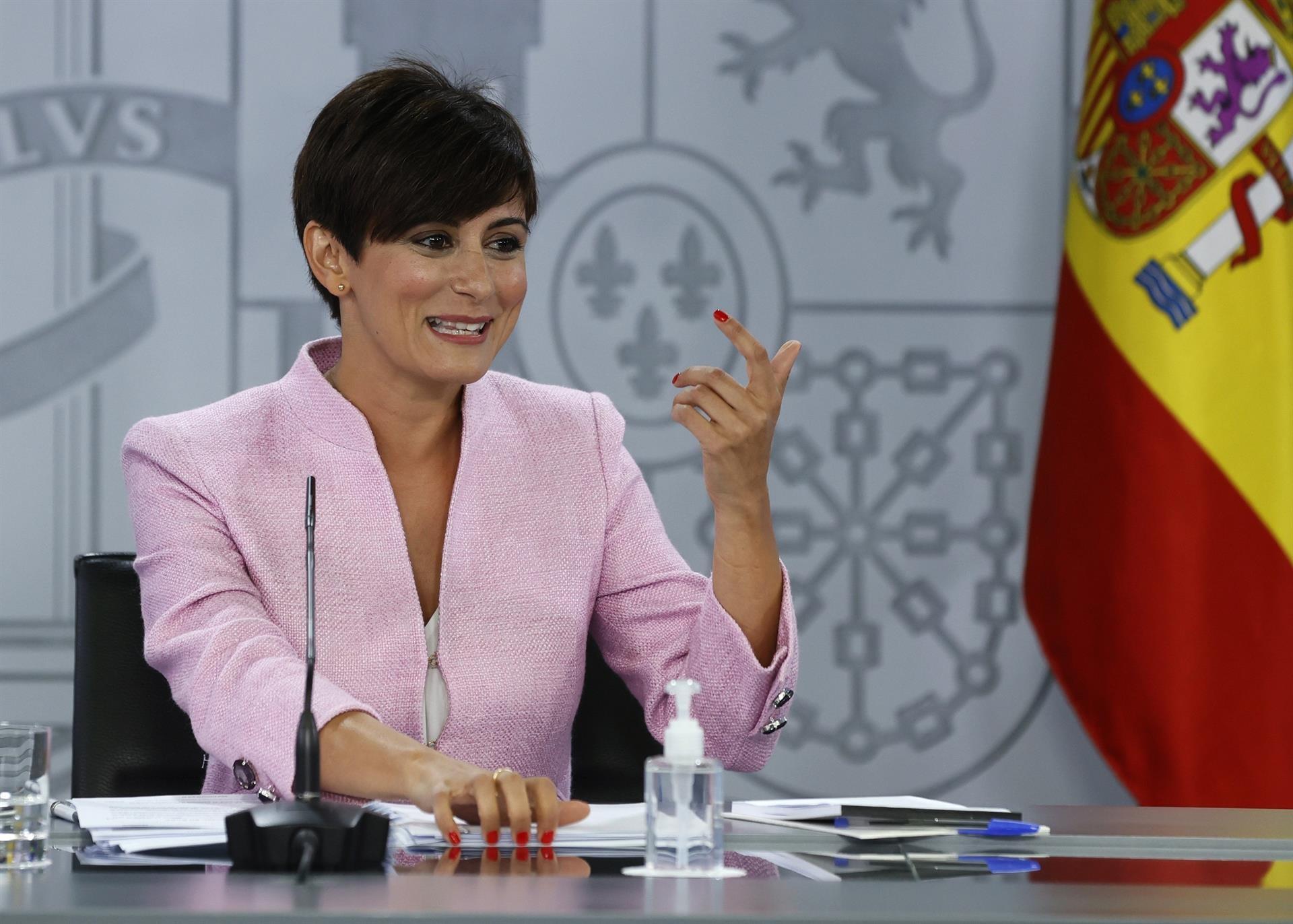 Isabel Rodríguez, ministra de Función Territorial.- EFE