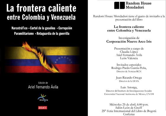 Portada del libro 'La frontera caliente entre Colombia y Venezuela'