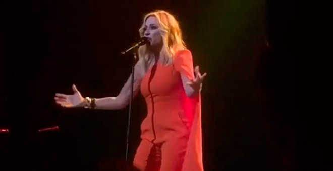 Marta Sánchez, durante el concierto.