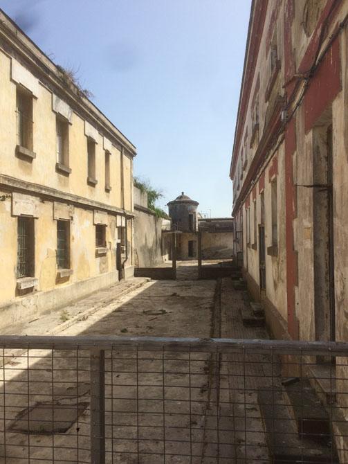 Torre de vigilancia de la antigua prisión provincial de A Coruña. CRISTINA FALLARÁS