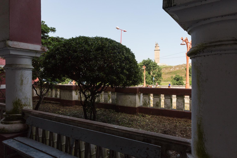 Arcadas de la antigua prisión provincial de A Coruña. SANDRA GARCÍA REY