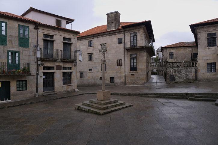 Praza de Leña, en el centro histórico de Pontevedra