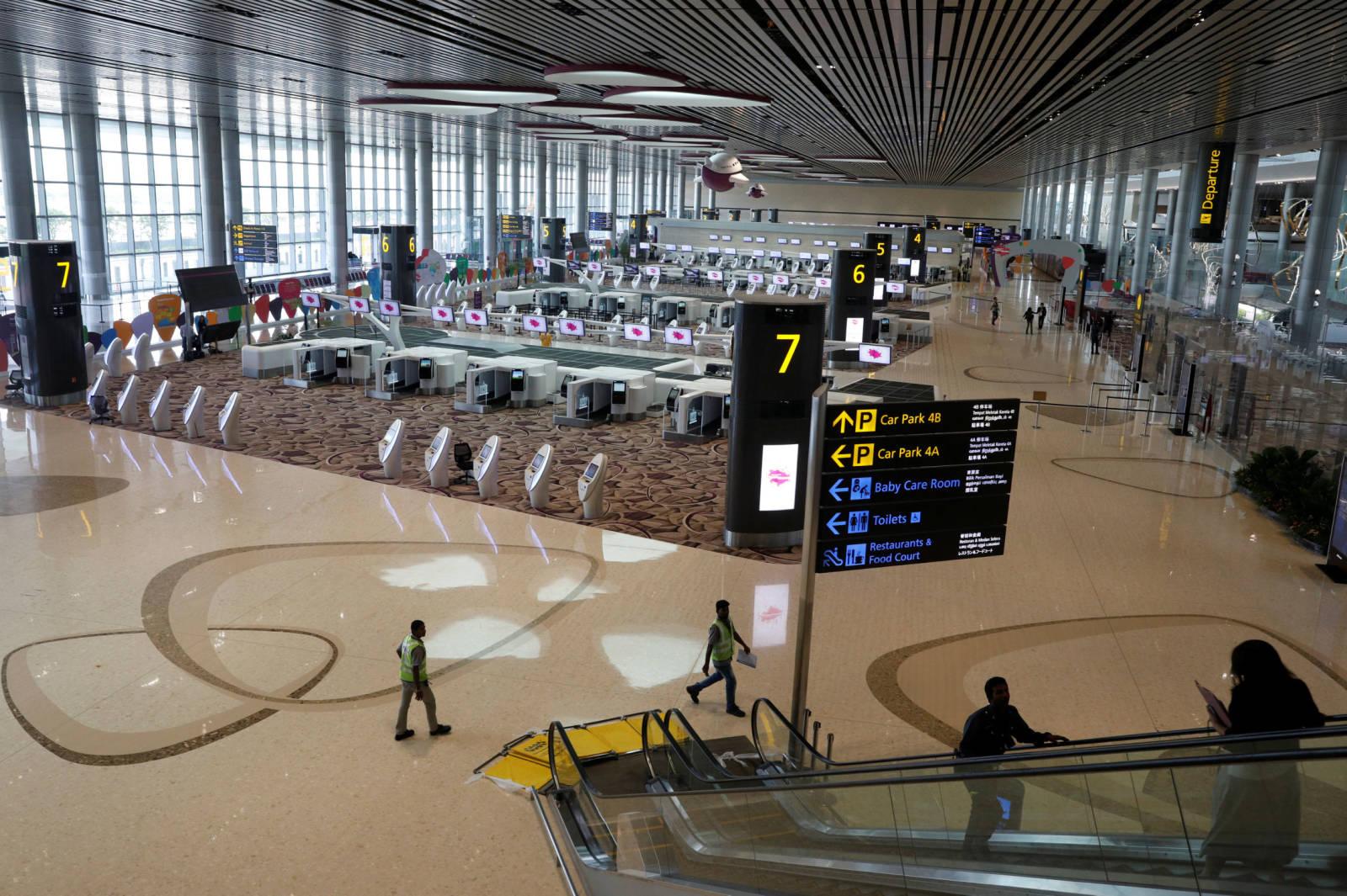 Vista de la nueva terminal robotizada del aeropuerto Changi de Singapur. REUTERS