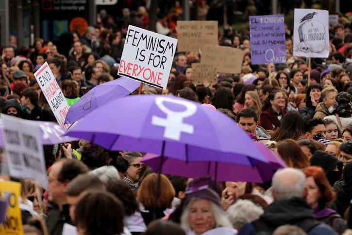 Manifestación feminista en Madrid. REUTERS/Sergio Perez
