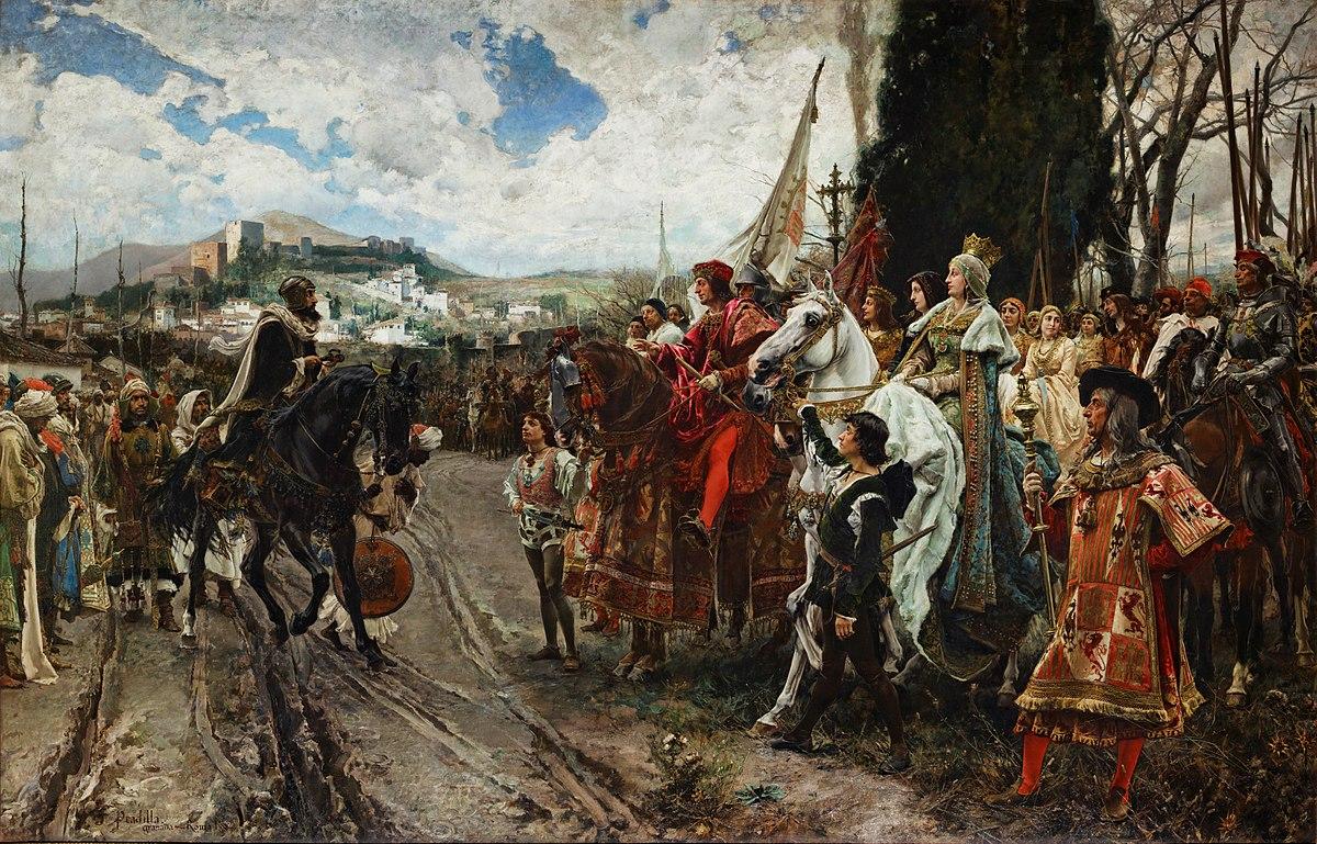 'La rendición de Granada', obra de Francisco Pradilla y Ortiz, que se encuentra en el Salón de los Pasos Perdidos del Palacio del Senado .