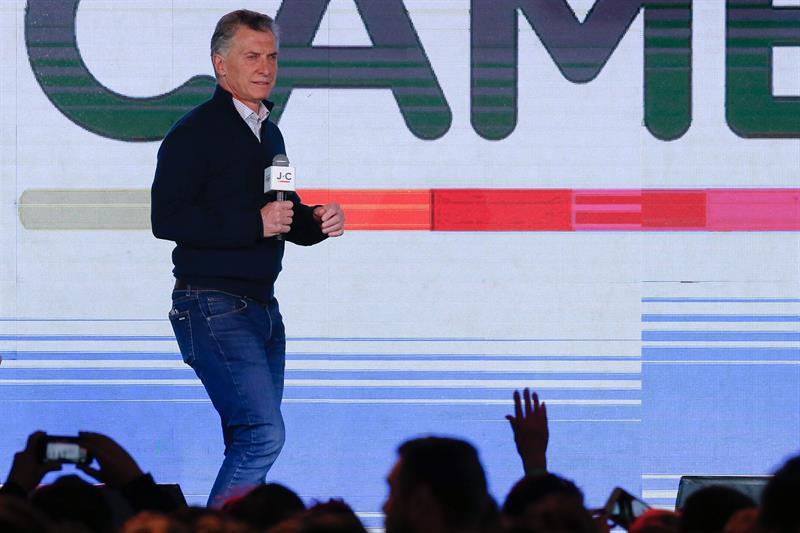 El presidente de la Argentina, Mauricio Macri, reconoce la derrota de Juntos Por el Cambio en las elecciones internas que se realizaron este domingo, en la ciudad de Buenos Aires (Argentina) EFE/Juan Ignacio Roncoroni