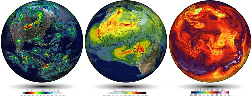 Simulaciones empleando el modelo climático del Goddard Earth Observing System (GEOS-5) de la NASA. William Putman/NASA/Goddard