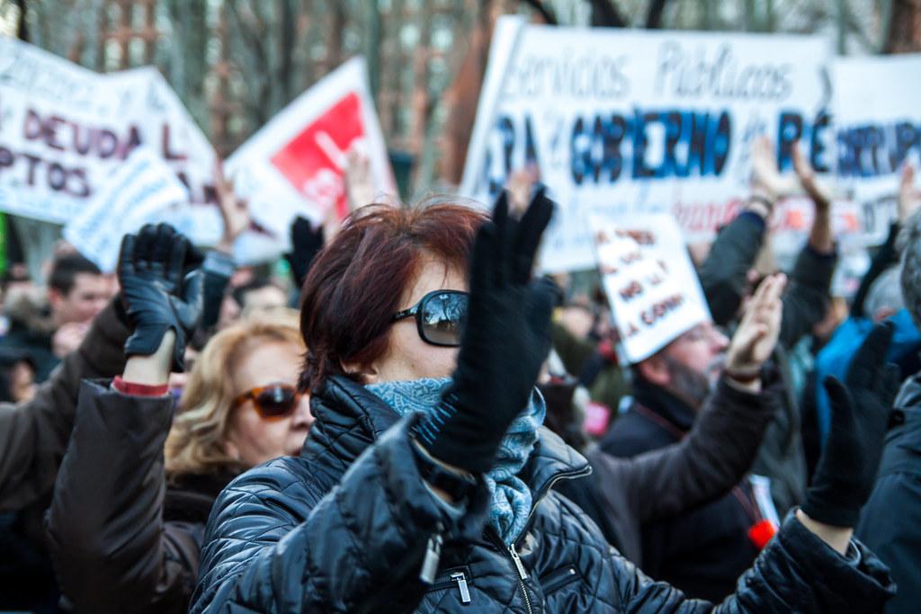 Protesta contra los recortes sociales y la crisis económica en Madrid en 2013. Pedro Rufo / Shutterstock
