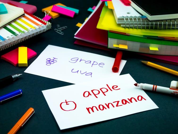 Aprender un nuevo idioma nos presenta muchas palabras libres de connotaciones. Shutterstock