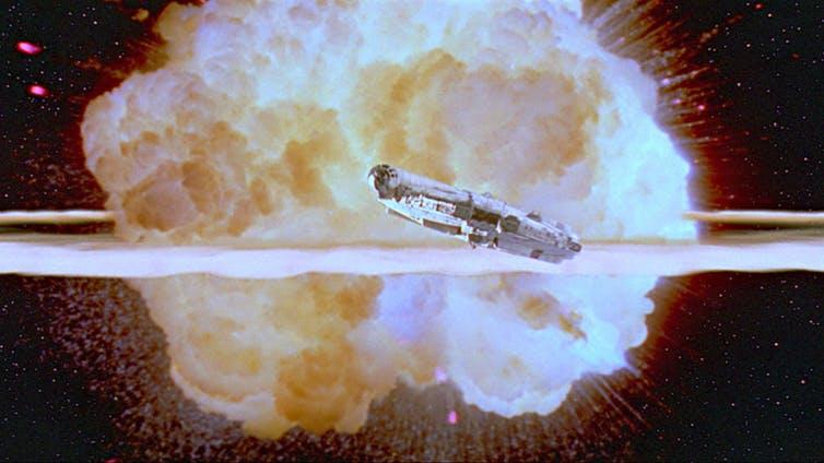 Escena de la destrucción de la segunda Estrella de la Muerte en 'La guerra de las galaxias: Episodio VI - El regreso del Jedi', Richard Marquand 1983. Starwars.com