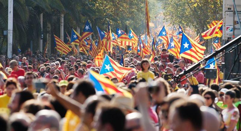 Manifestación en Barcelona el 11 de septiembre de 2014. Iakov Filimonov / Shutterstock