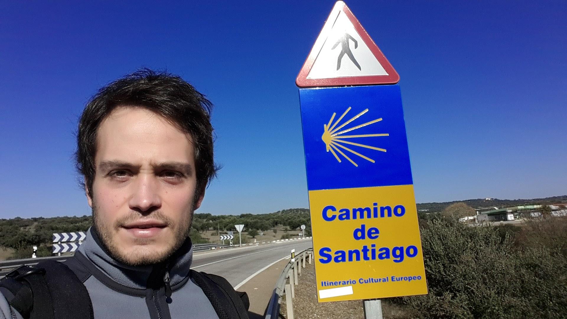 Cristóbal García, en el Camino de Santiago.
