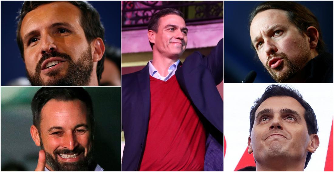 Los candidatos de las elecciones del 10-N.