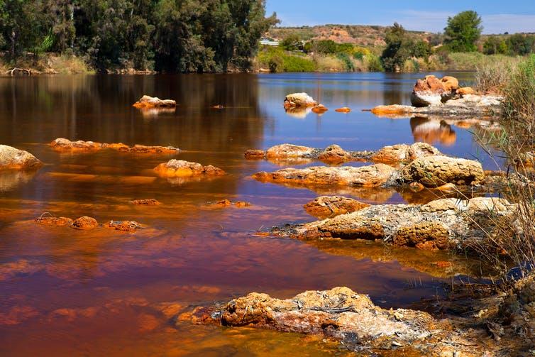 Río Tinto a su paso por Niebla (Huelva). Shutterstock/Olha Rohulya