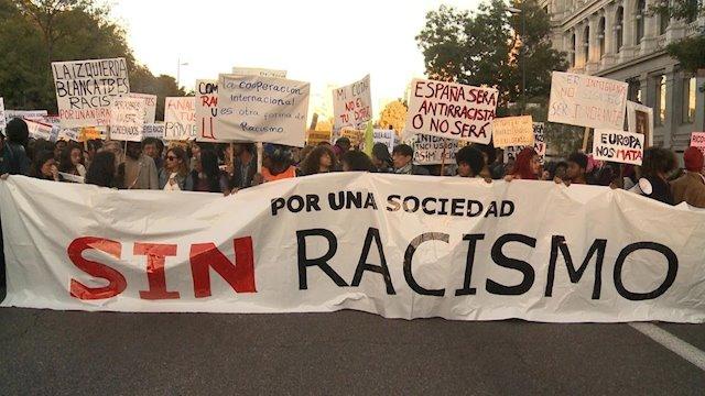 Imagen de la manifestación antirracista en Madrid, en noviembre de 2017. E.P.
