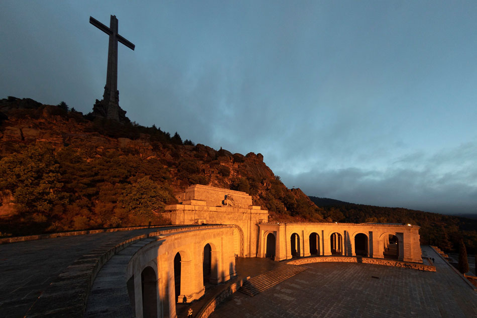 Vista de la explanada de la Basílica del Valle de los Caídos. E.P.