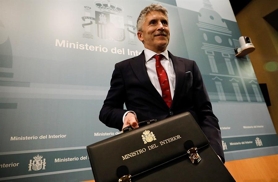 El ministro del Interior, Fernando Grande Marlaska, durante el acto de toma de posesión de su cargo. EFE/David Fernández