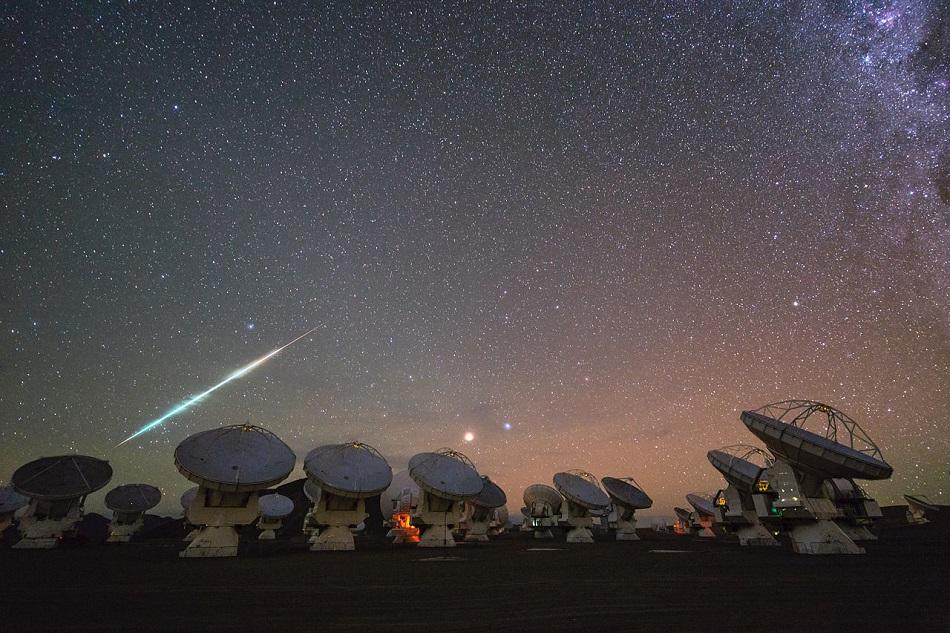 Vista del espacio desde el Atacama Large Millimeter Array