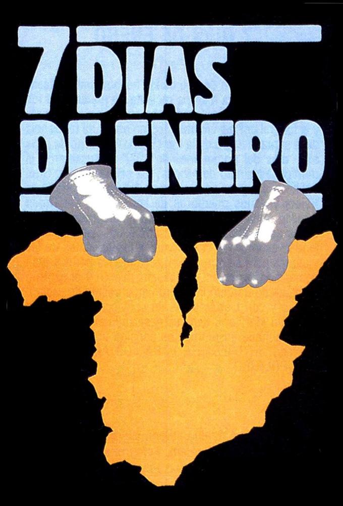 Cartel de la película '7 días de enero', de Juan Antonio Bardem.
