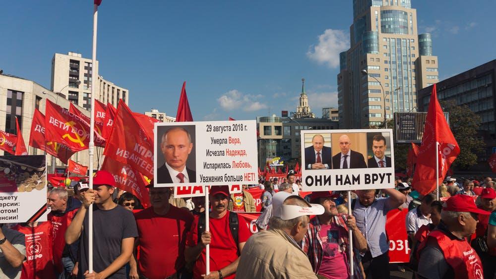 Manifestación contra la reforma de las pensiones en Moscú el 28 de junio de 2018. Nickolay Almayev / Shutterstock