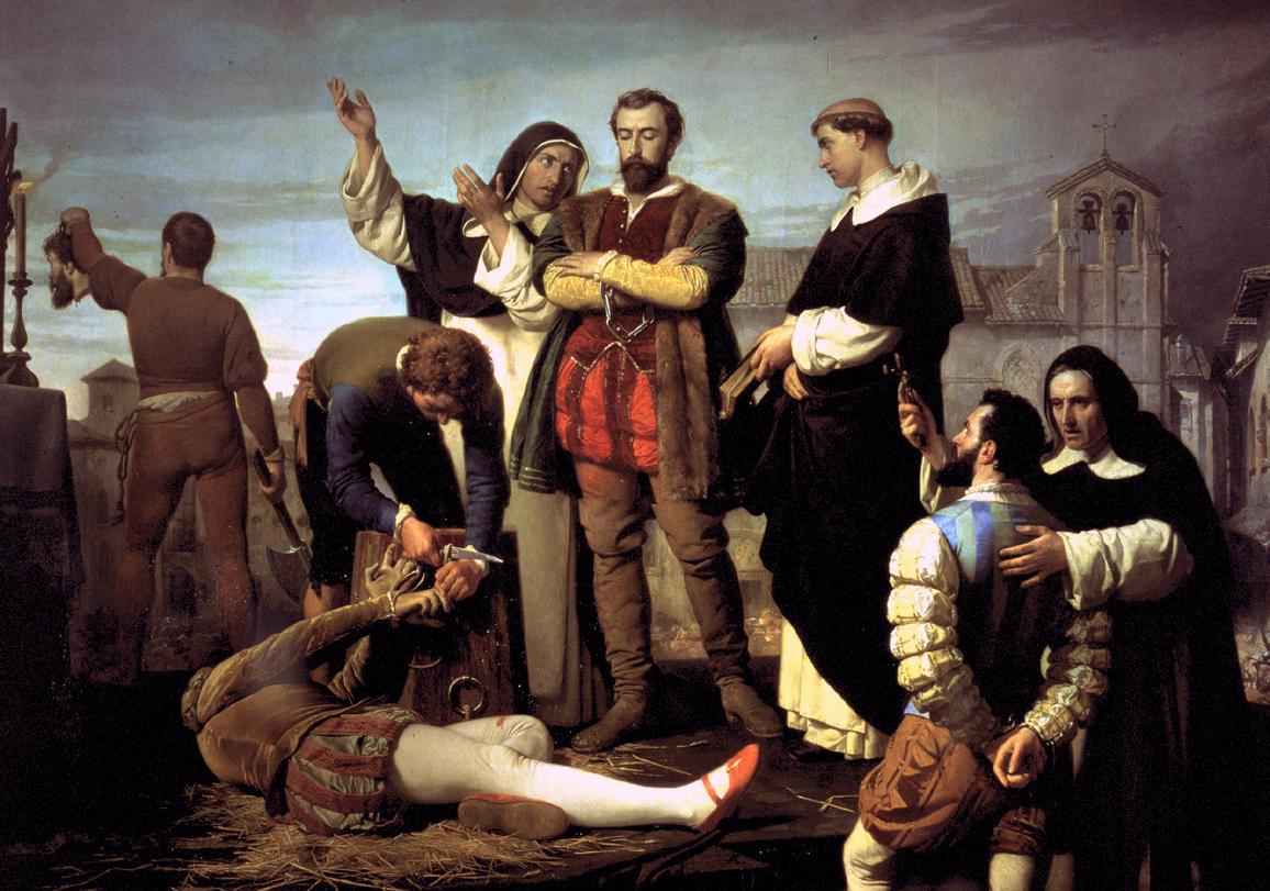 Cuadro la 'Ejecución de los comuneros de Castilla', de Antonio Gisbert Pérez (1860)