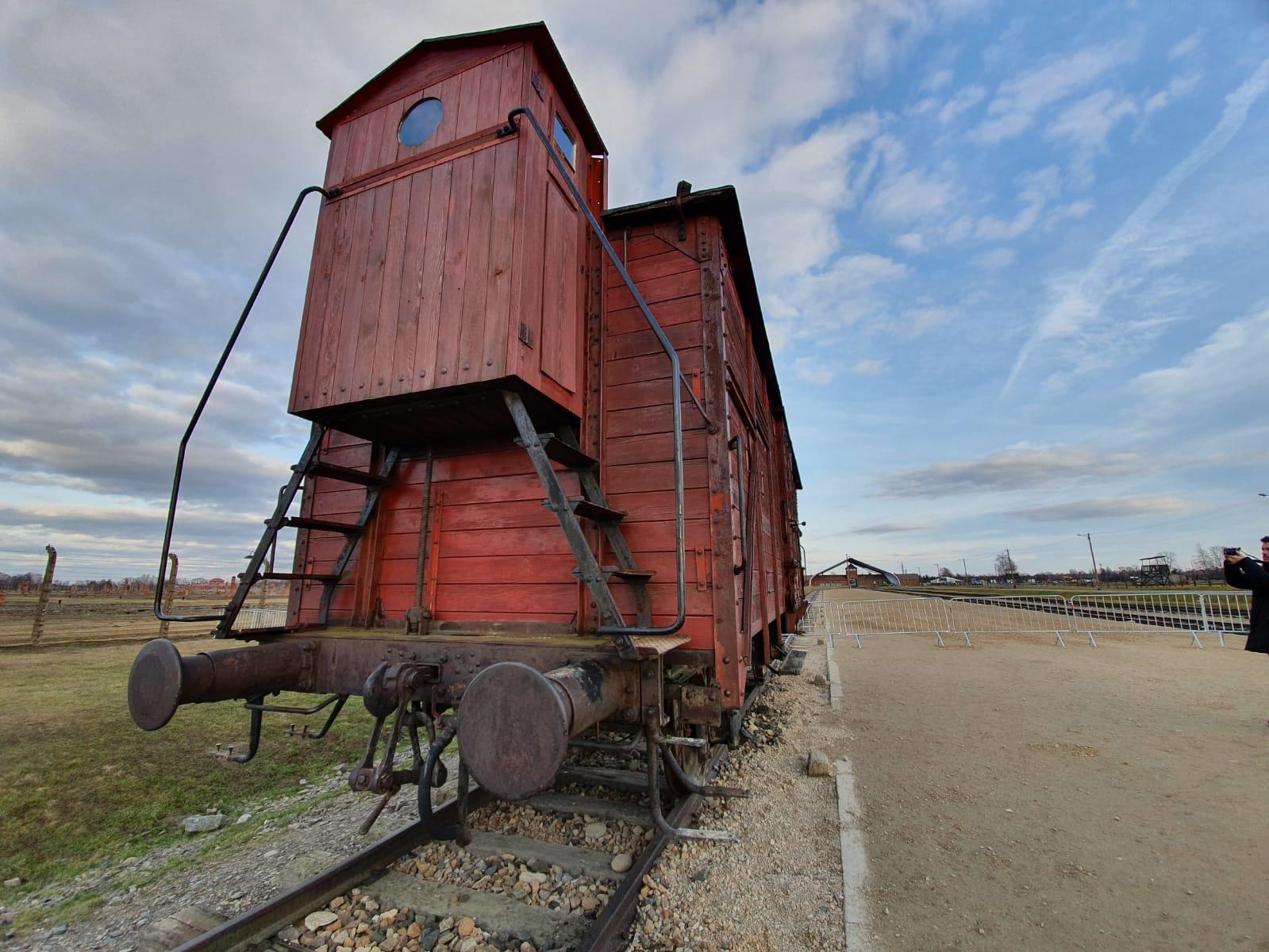 Vagón en el campo de concentración de Auschwitz. SERGI TARRÉS