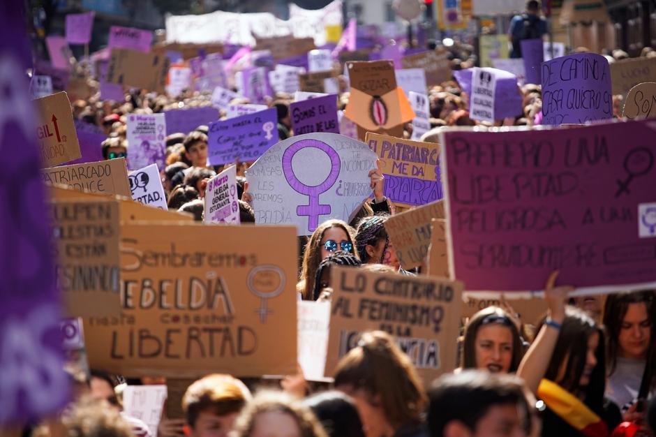 Manifestación del 8M de 2019 en madrid. REUTERS/Juan Medina