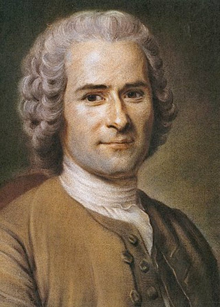 Retrato de Jean-Jacques Rousseau.