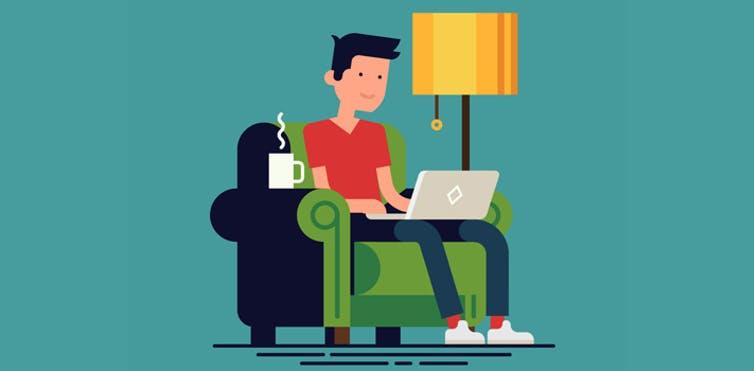 El teletrabajo desde casa gracias a las nuevas tecnologías (Shutterstock )