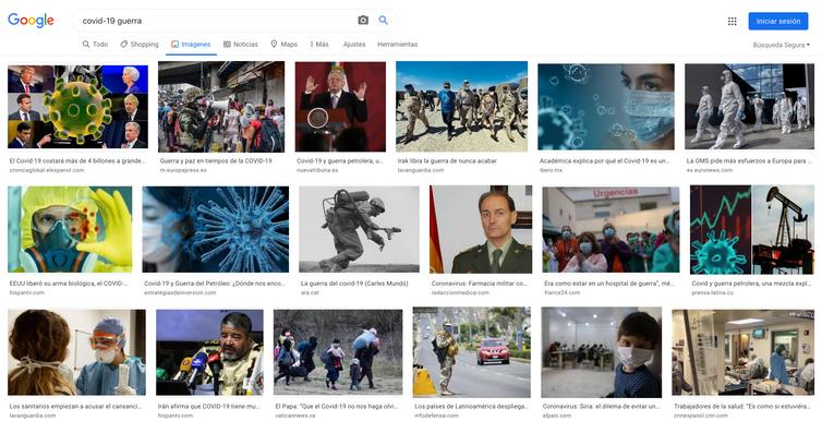 Captura de pantalla de Google hecha el 24 de abril. Rebeca Pardo