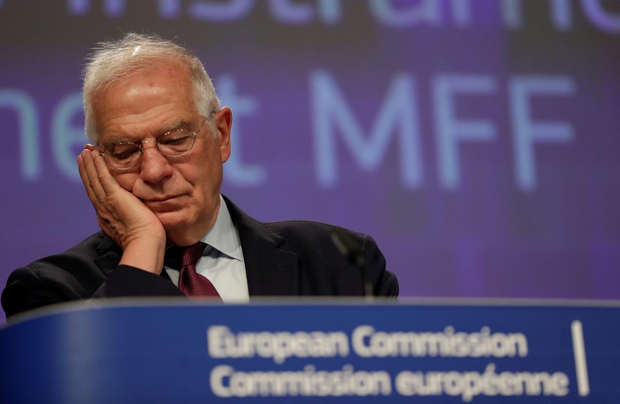 El Alto Representante para la Política Exterior de la UE, Josep Borrell, en una rueda de prensa en Bruselas. REUTERS/Olivier Hoslet/ Pool