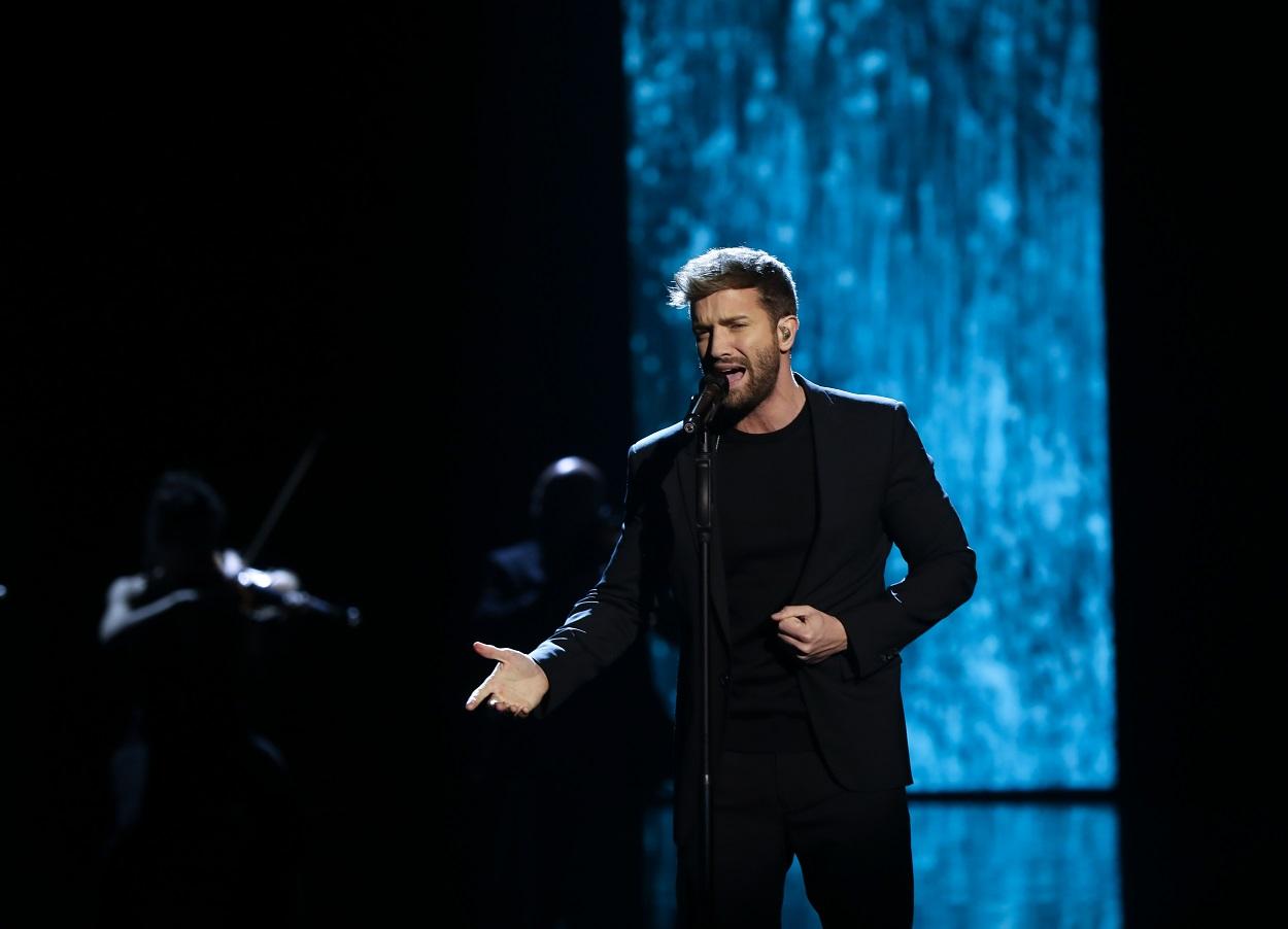 El cantante malagueño Pablo Alborán, durante su actuación en la gala de entrega de los Premios Goya 2020 en Málaga. E.P./María José López