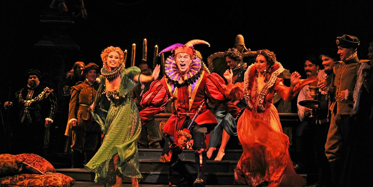 Imagen de una representación de la ópera 'Rigoletto' de Giuseppe Verdi.