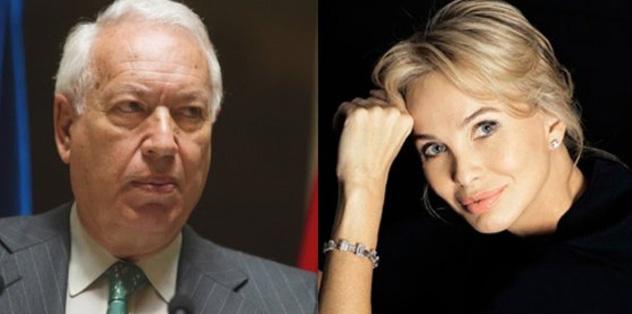 José Manuel García-Margallo y Corinna Larsen.
