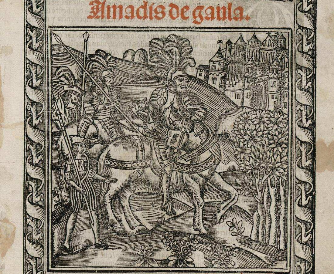 Los qtro libros de Amadis de gaula nueuamete imprsos [et] hystoriados e Seuilla, Jacob Cromberger, 1547. Wikimedia Commons, CC BY-SA
