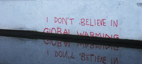 I don't believe in global warming (Banksy, 2009) Londonmatt/Flickr, CC BY
