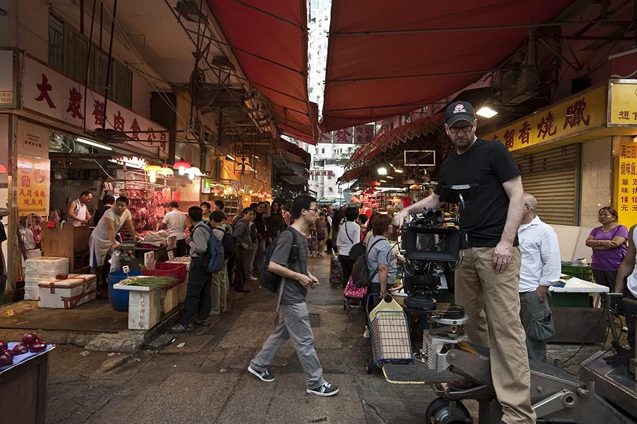 Steven Soderbergh durante el rodaje de _ Contagio_ IMDB / Warner Bros. Entertainment Inc.