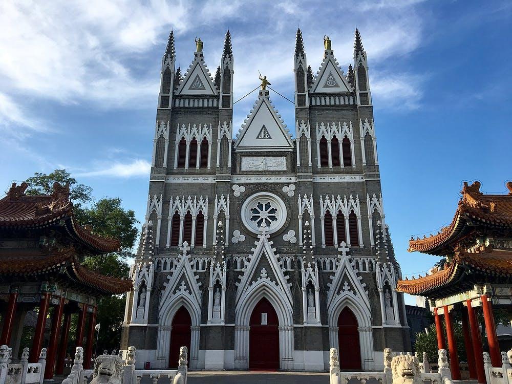 Iglesia del Salvador, iglesia católica situada en el distrito de Xicheng, Pekín, China. Wikimedia Commons / ZhengZhou, CC BY-SA