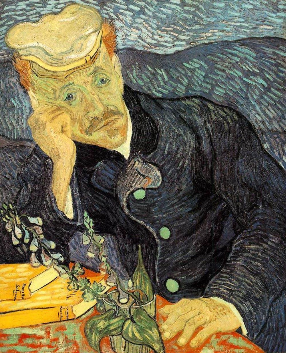 Retrato del doctor Gachet (Vincent van Gogh,1890). Wikimedia Commons