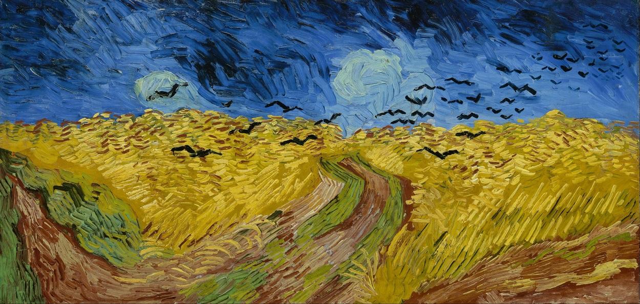 Trigal con cuervos (Vincent van Gogh, 1890). Wikimedia Commons