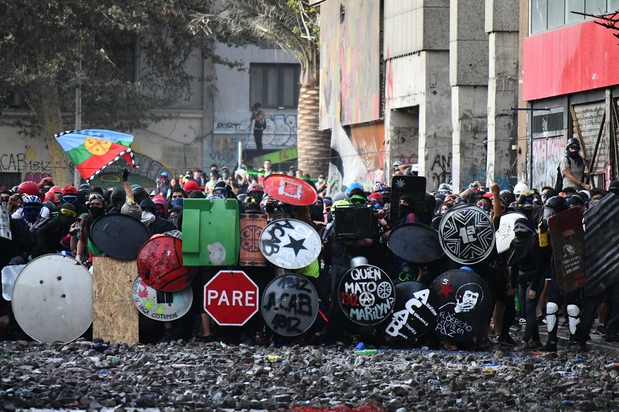 Protestas en Santiago de Chile en enero de 2020. Shutterstock / Chomen