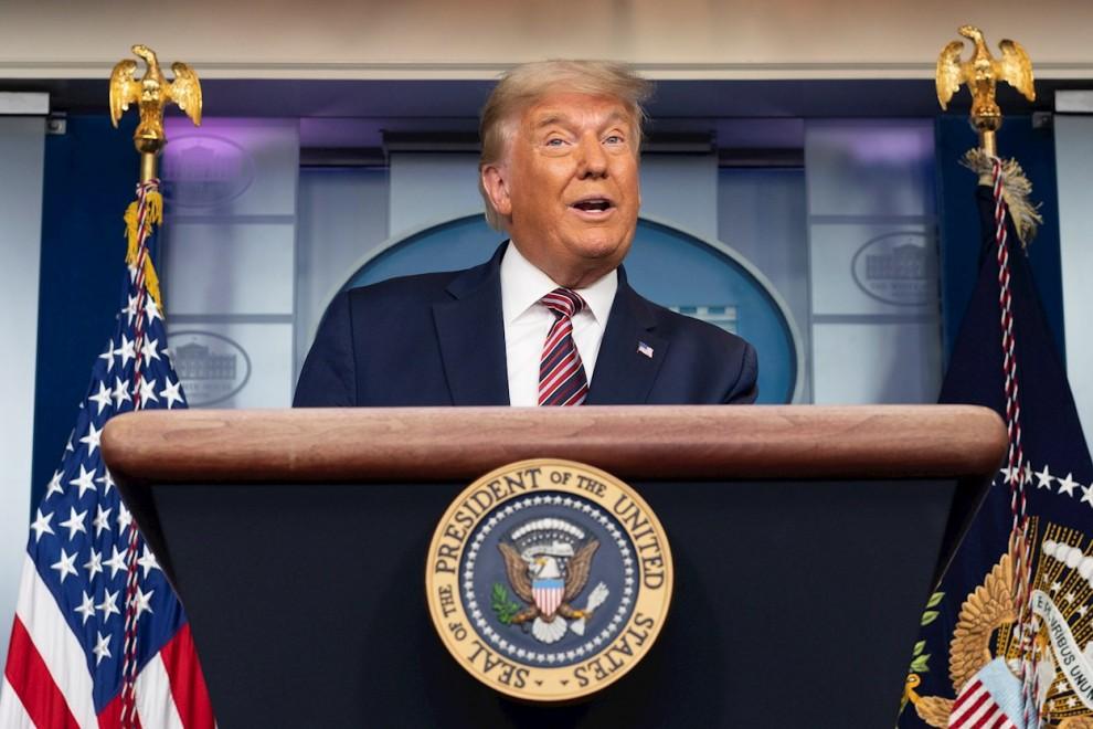 Donald Trump en la Casa Blanca este jueves. — EFE