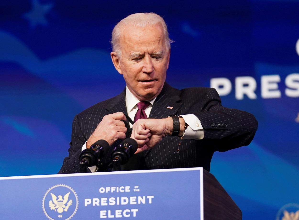 El presidente electo de EEUU, Joe Biden, en un acto para presentar a varios de los miembros de su futuro gabinete, en Washington. REUTERS/Lamarque/Pool