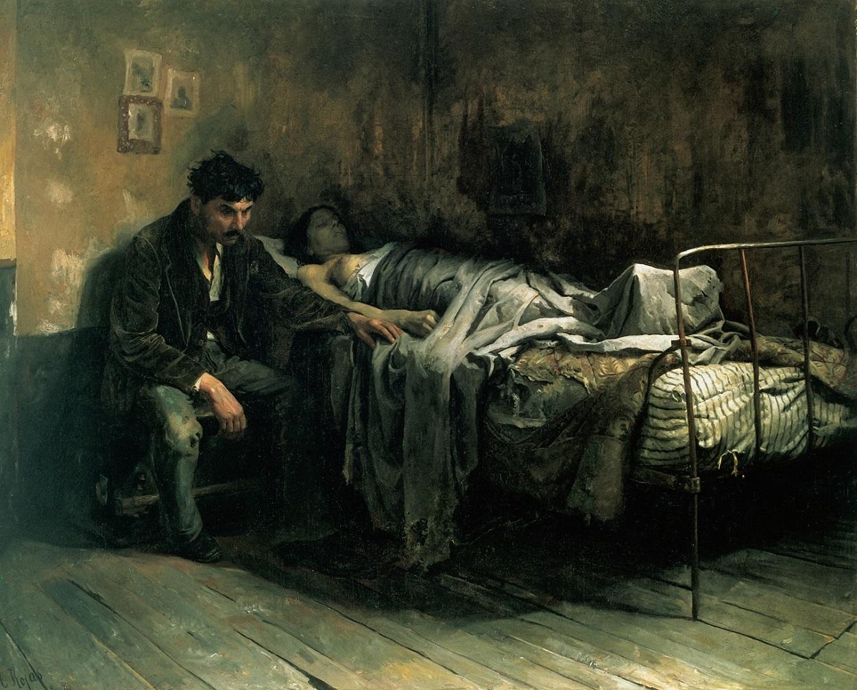 La miseria (Cristóbal Rojas, 1886). Wikimedia Commons / Galería de Arte Nacional, Caracas, Venezuela