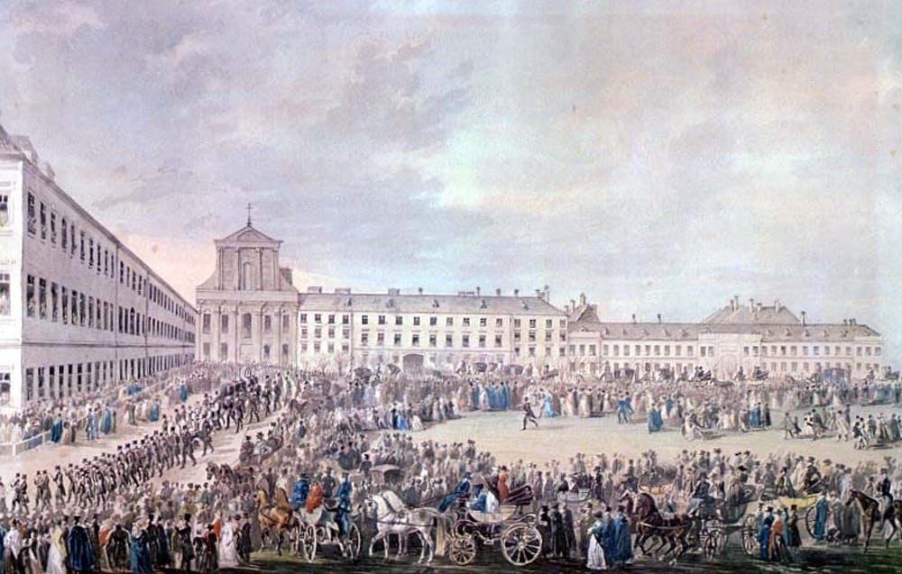 Funerales de Beethoven (Franz Xaver Stöber, 1827). A las honras fúnebres, el 29 de marzo de 1827, acudieron más de 20 000 personas. Wikimedia Commons