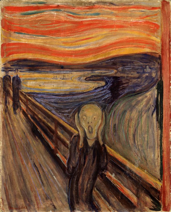 El grito (Edvard Munch, 1893). Wikimedia Commons