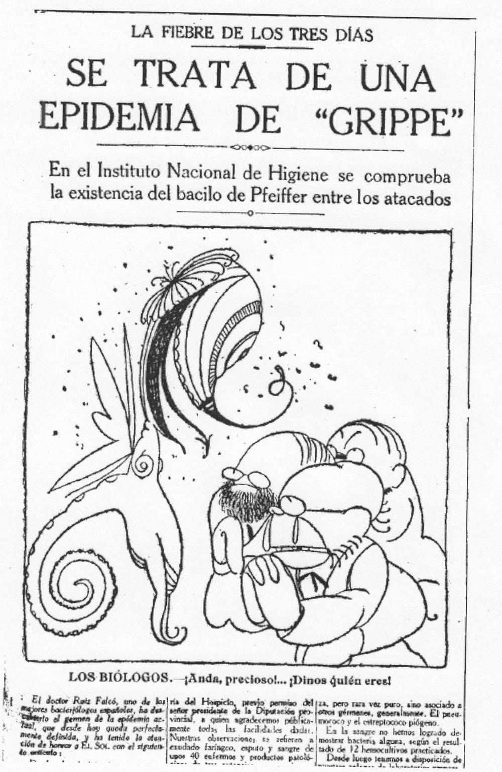 Vileta de Lluís Bagaría publicada en el diario El Sol el 7 de junio de 1918. Wikimedia Commons / El Sol