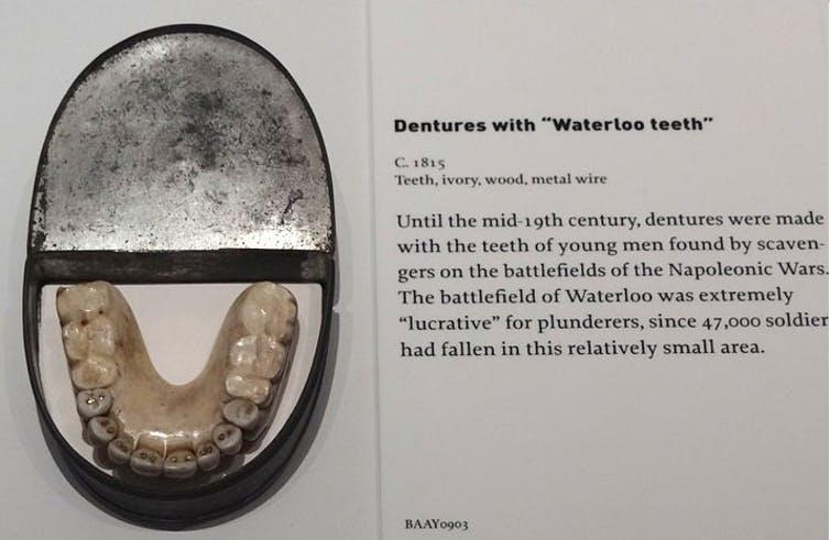 Dentaduras postizas con dientes de Waterloo