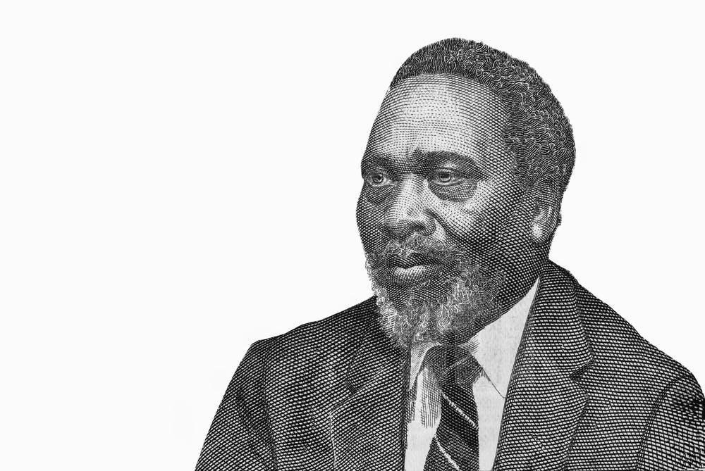 Retrato del primer presidente y padre fundador de Kenia Jomo Kenyatta (a partir de los billetes de banco). Shutterstock / Prachaya Roekdeethaweesab
