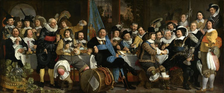 Banquete de celebración de la paz de Münster (Bartholomeus Van der Helst, 1648)
